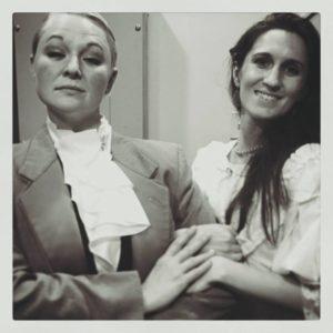 Edwin Drood (Karissa Swanigan) and Rosa Bud (Shaina Kuhn). Photo courtesy of Landless Theatre Company.