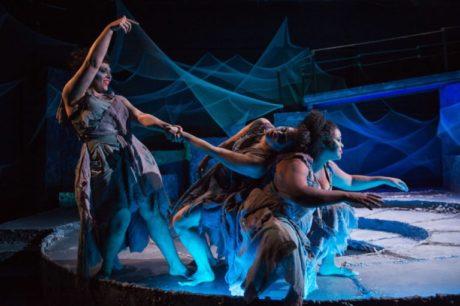 L to R: 'The Stones': Briana Manente, Charlene V. Smith, and Tamieka Chavis as The Stones. Photo by Traci J. Brooks Studios.