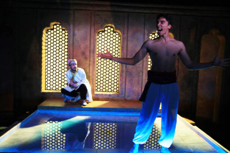 Huma (Anthony Mustafa Adair) and Babur (Jenson Titus Lavallee). Photo by Photo by Paola Nogueras.