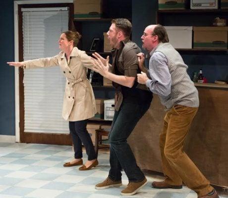 Julianna Zinkel, Jake Blouch, and Brian McCann. Photo courtesy of Act II Playhouse.