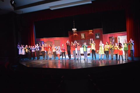 The cast, crew, and production team of 'The Best Haunted House Ever!' Photo by Larry McClemons.