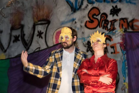 Left to right: William Strupwezski (Homer Simpson) and Lauren Salvo (Bart Simpson). Photo by TLP Studios.