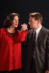 Debbie Barber-Eaton (Martha) and Joseph Mariano (George). Photo courtesy of The Colonial Players of Annapolis.