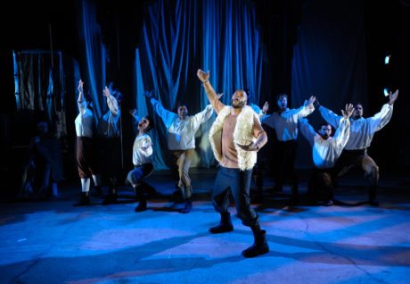Forrest McClendon (The Cook) and the ensemble. Photo by Shawn May.