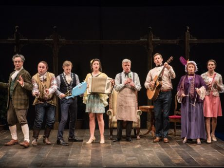 The cast of 'She Stoops to Conquer.' Photo by Marielle Solan.