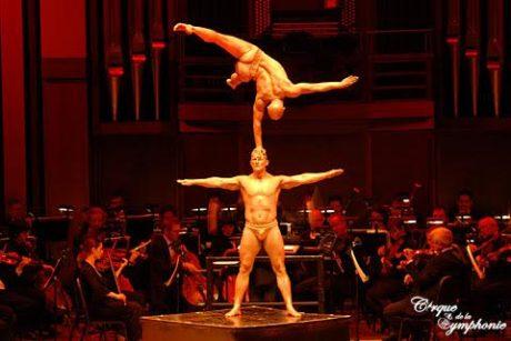 Jaroslaw Marciniak and Dariusz Wronski, otherwise known as strongmen Jarek and Darek. Photo courtesy of Cirque de la Symphonie.