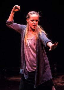 Esther Williamson (The Poet) in 'An Iliad.' Photo by Teresa Castracane.