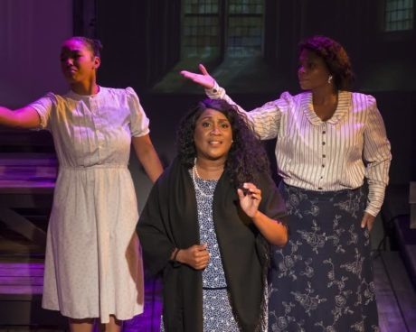 Ayana Reed (Carrie), Roz White, (Mae Lou) and Duyen Washington (Ginny). Photo by Chris Banks.