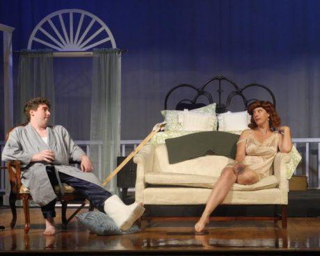 Matt Scarborough (Brick) and Deidre McCollum (Maggie). Photo by Julie Little.