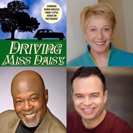 Karen Grassle, Alan Hoffman, and Bill Grimmette. Photo courtesy of Riverside Center for the Performing Arts.
