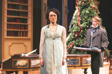 Katie Kleiger (Mary Bennet) and William Vaughan (Arthur de Bourgh). Photo by Grace Toulotte.