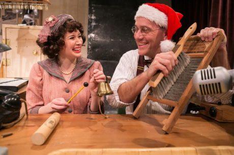 Art Foley (Santa), Jennifer Donovan, and Steven Carpenter. Photo by C. Stanley Photography.