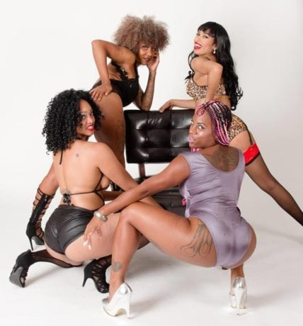 The cast of 'Black Friiday.' Photo courtesy of Chocolate City Burlesque and Cabaret.