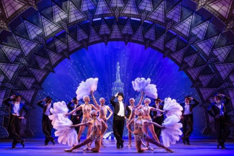 'An American in Paris' Touring Company, with Nick Spangler (center). Photo by Matthew Murphy.