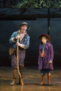 Charlie Franklin (Dickon) and Anya Rothman (Mary Lennox). Photo by Scott Suchman.