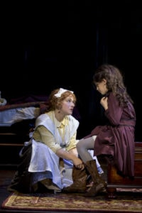 Daisy Eagan (Martha) and Anya Rothman (Mary Lennox). Photo by Scott Suchman.