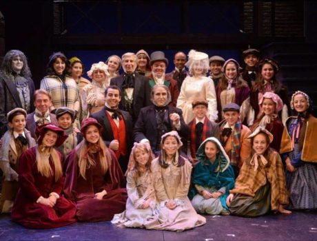 The cast of 'A Christmas Carol.' Photo courtesy of Theatre Three.