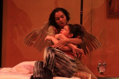 Rachel O'Hanlon-Rodriguez'(Marisol) and Alexandra King (Angel). Photo by Paola Nogueras.