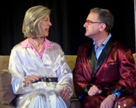 Nancy Blum (Agnes) and Louis Pangaro (Tobias). Photo by Harvey Levine.