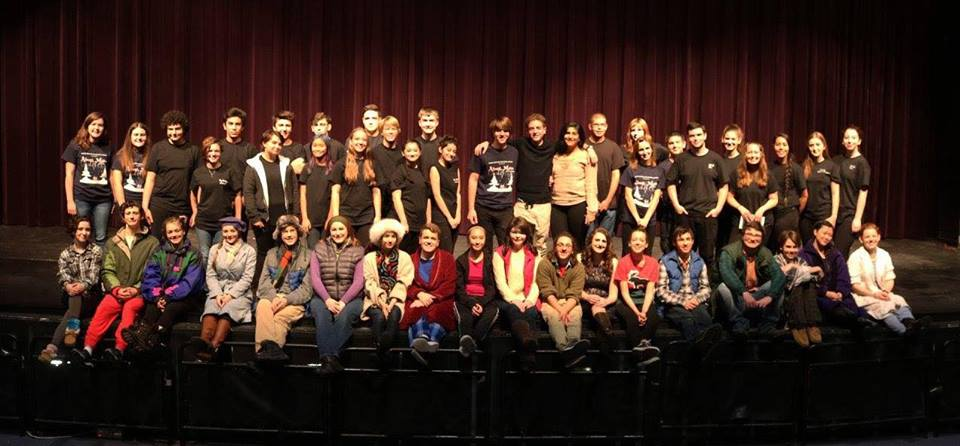 The cast of 'Almost Maine.' Photo courtesy of Quince Orchard High School.