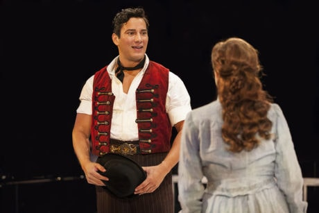 (L to R) Nicholas Rodriguez (Billy Bigelow) and Betsy Morgan (Julie Jordan). Photo by Maria Baranova.