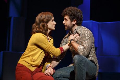 Stephanie J. Block (Trina) and Brandon Uranowitz (Mendel). Photo by Joan Marcus.