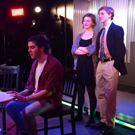 L: Max Rome (Jon), Madison Middleton (Susan), and Dylan Kaufman (Mike). Photo courtesy of The Highwood Theatre.