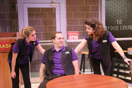 Megan Anderson (Jamie), Eric Messner (Ted), and Liliana Evans (Sheri). Photo by Katie Simmons-Barth.