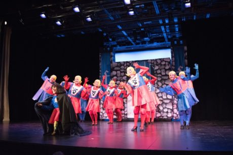 Jack Stein and the cast of Shrek: the Musical. Photo courtesy of Rockville Musical Theatre.