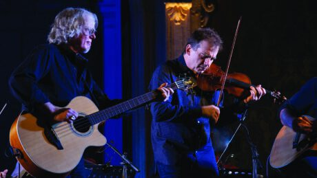 R.E.M. bassist Mike Mills (left) and violinist Robert McDuffy. Photo by CAMI PHOTO.