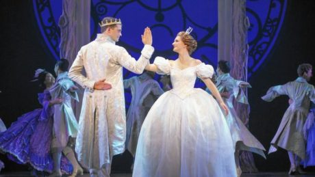 Hayden Stanes (The Prince Topher) and Tatyana Lubov (Ella). Photo by Carol Rosegg.