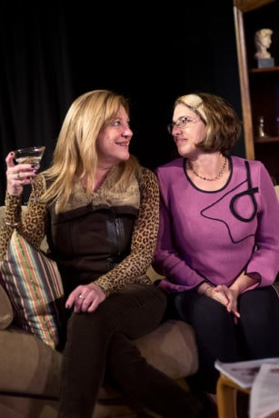 Janet C. Preston (Claire) and Devora Zack (Julia). Photo by Harvey Levine.