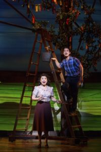 Lea Salonga and Telly Leung in Allegiance. Photo by Matthew Murphy.