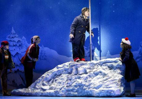 Wyatt Oswald (Flick) and the Cast of 'A Christmas Story: The Musical.' Photo by Gary Emord Netzley.