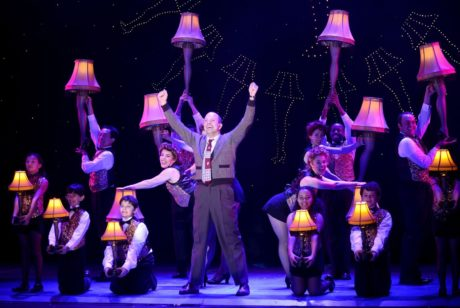 Christopher Swan as The Old Man leads the Leglamp number. Photo by Gary Emord Netzley.