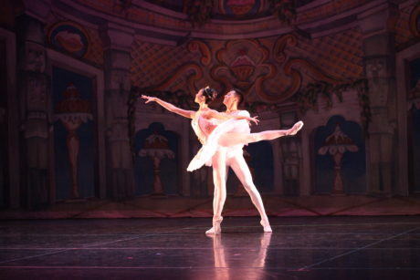 Meredith Hwang and Renat Osmonov in The Nutcracker. Photo by Goli Kaviani for Metropolitan Ballet Theatre.