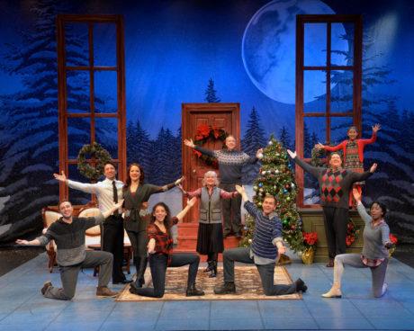 The cast pf 'Christmas Inn.' Photo by John Vecchiolla.
