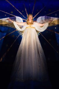 Emily Noël appears as an Angel. Photo by Brittany Diliberto.