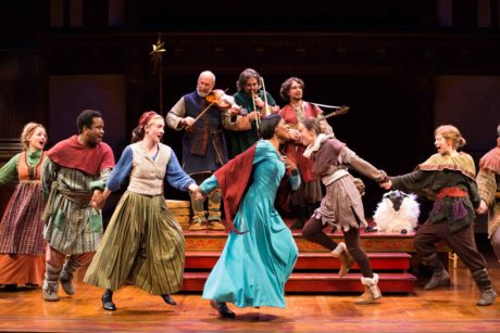 The company of 'The Second Shepherds' Play' dances in merry celebration. Photo by Brittany Diliberto.