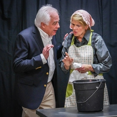 Bill Brekke and Kathryn in Foxfire. Photo courtesy of Bowie Community Theatre.
