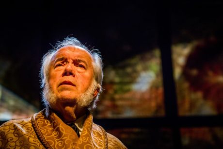 Zoran Kovcic as Ebenezer Scrooge. Photo courtesy of Hedgerow Theatre.