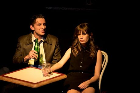 With Nick Fruit and Rebecca Tucker. Photo courtesy of Iron Crow Theatre.