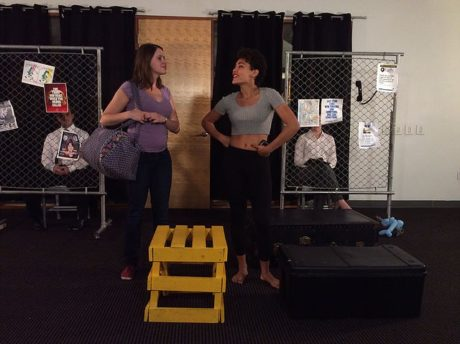 L to R: Julia Hurley (Nadia) and Cheyanne Williams (Lupita). Photo by Anne Donnelly.