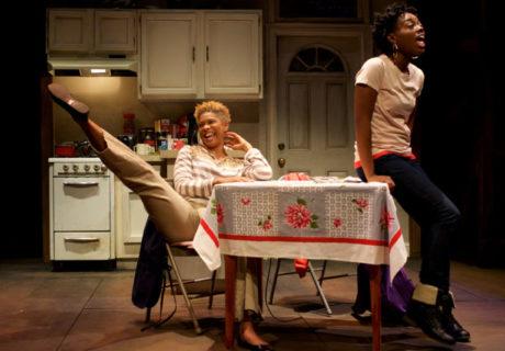 Diedra LaWan Starnes (Myrna) and Kashayna Johnson (Annie). Photo by Ryan Maxwell.