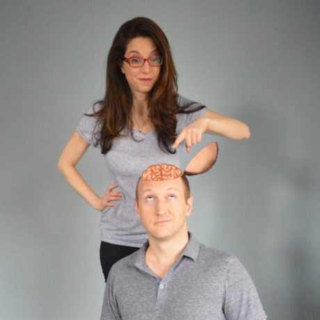 Dr. Heather Berlin and Baba Brinkman in a promo image for Off the Top. Photo by Patrick Lam.