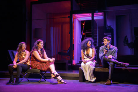 Sas Goldberg, Lindsay Mendez, Rebecca Naomi Jones, and Gideon Glick. Photo by Joan Marcus.