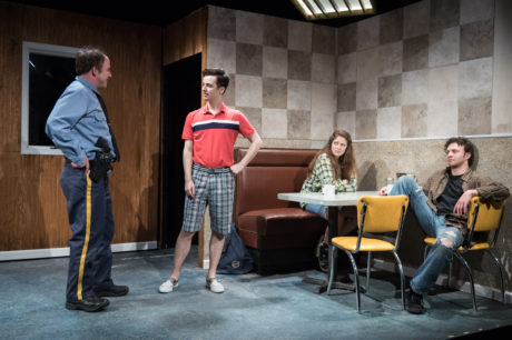 Matthew Lawler, Sean Patrick Monahan, Rachel Franco, and James Kautz. Photo by Russ Rowland.