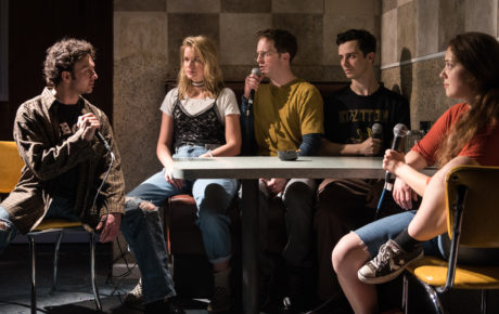 James Kautz, Elizabeth Lail, Spencer Davis Milford, Sean Patrick Monahan, and Rachel Franco. Photo by Russ Rowland.