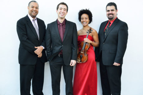 The Harlem Quartet: Ilmar Gavilán, Felix Umansky, Melissa White, Jaime Amador.