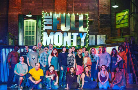 The company of The Full Monty at The Players Club of Swarthmore.